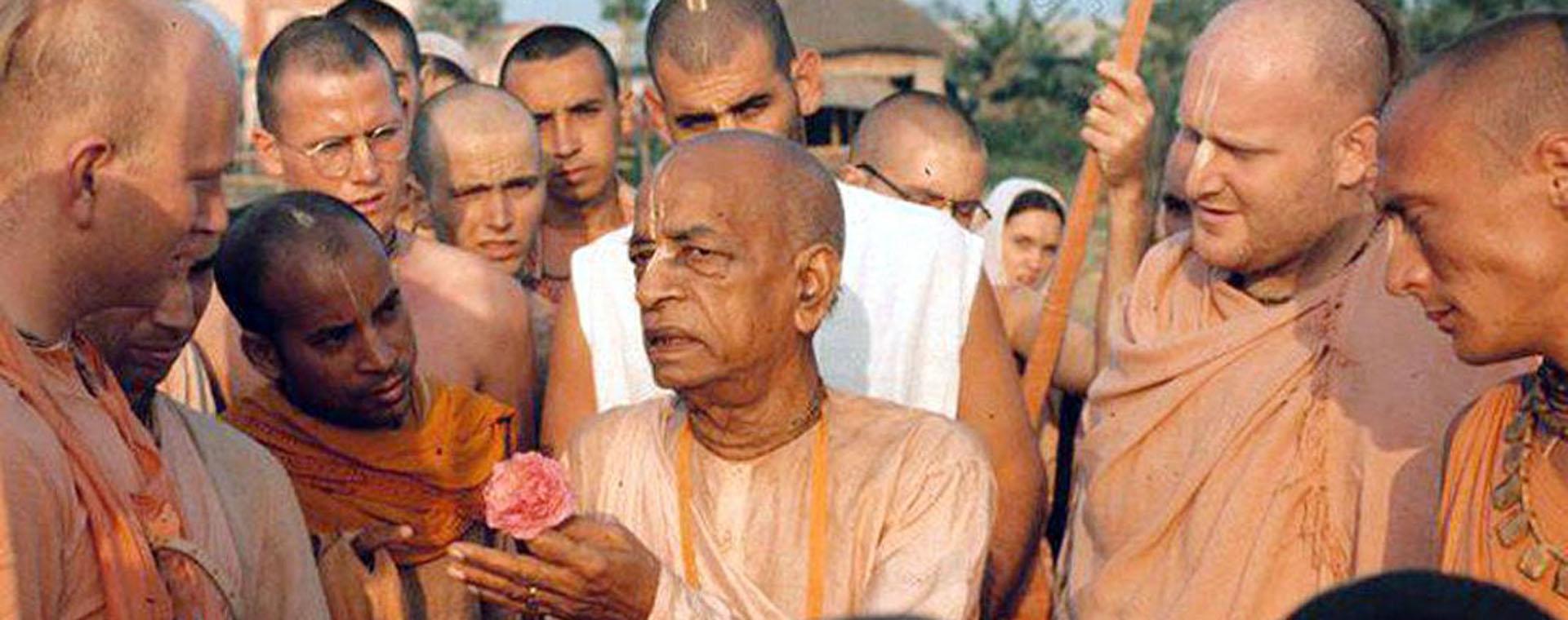Subhag Swami with Srila Prabhupada