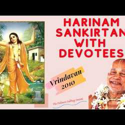 Harinam Sankirtan with Devotees