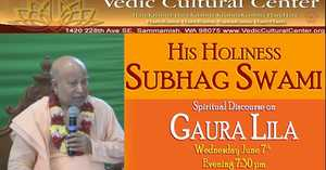 Subhag Swami - Live from Vedic Cultural Center, New York (Gaura Lila)