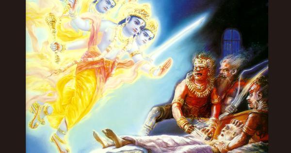 Visnudutas saved Ajamila from Yamadutas