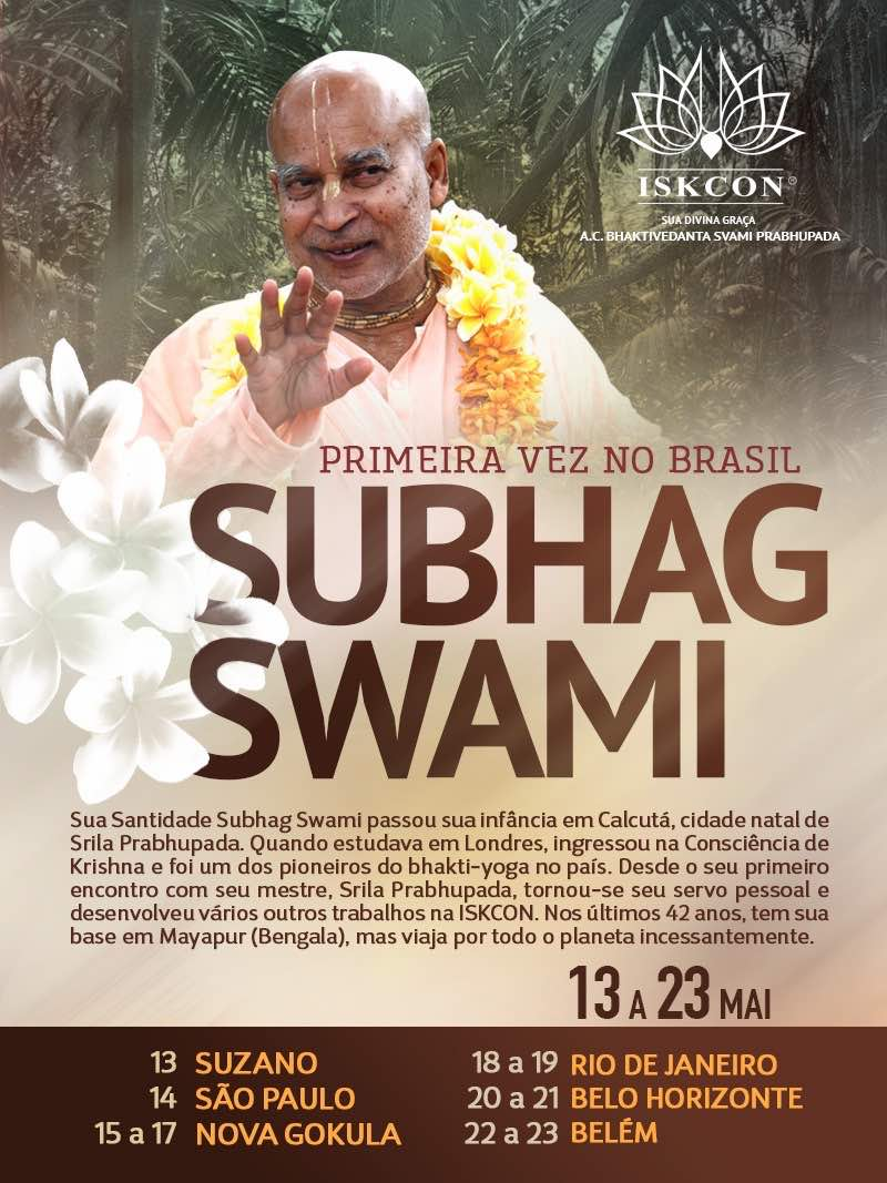 Subhag Swami - Frist Time Travels in Brasil